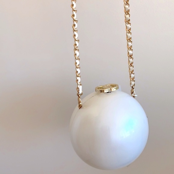 NWT Pink Haley Ornament Bag in Pearl